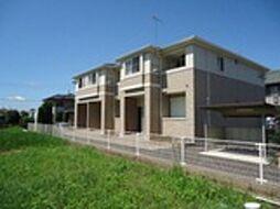 茨城県筑西市岡芹の賃貸アパートの外観
