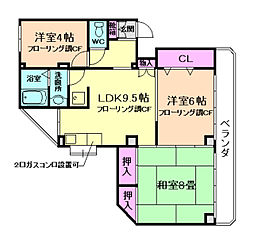 宝山ハイツ[1階]の間取り