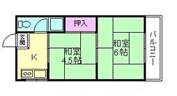 大阪府豊中市千成町2丁目の賃貸マンションの間取り