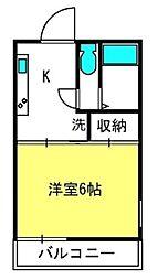 埼玉県さいたま市北区宮原町3丁目の賃貸アパートの間取り