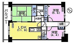 メルベーユ丸山台[2階]の間取り