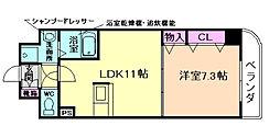メゾン・フロールIMAKUBO[2階]の間取り