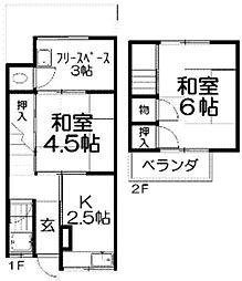 [テラスハウス] 大阪府枚方市中宮西之町 の賃貸【/】の間取り