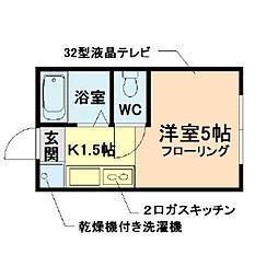 パールスタイル福島[2階]の間取り