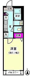 Villa Asahi[205号室]の間取り