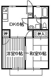 パナハイツ増田[202号室]の間取り
