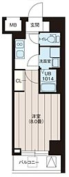 レオーネ三ノ輪II 4階1Kの間取り