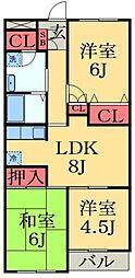 千葉県千葉市緑区おゆみ野中央6丁目の賃貸マンションの間取り