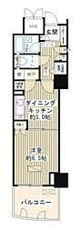 ゲートシティ大崎サウスパークタワー 9階1DKの間取り