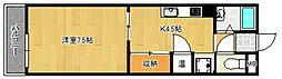 プレアール中央町[205号室]の間取り