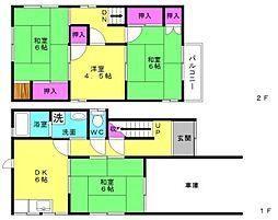 [一戸建] 兵庫県加古郡播磨町南大中3丁目 の賃貸【/】の間取り