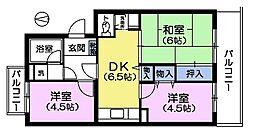 グリーンパレス柿木N[2階]の間取り