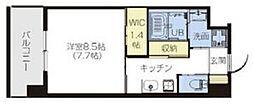 近鉄大阪線 弥刀駅 徒歩14分の賃貸マンション 4階1Kの間取り