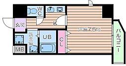 D.alivio senbayashi 2階1Kの間取り