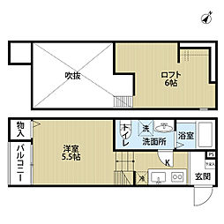 埼玉県さいたま市西区大字宝来の賃貸アパートの間取り
