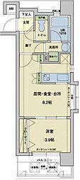 福岡県福岡市中央区高砂1丁目の賃貸マンションの間取り