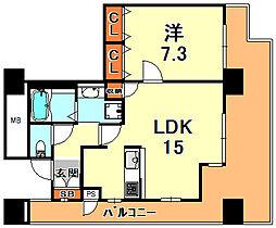 RICイーストコート3番街  101号棟 29階1LDKの間取り