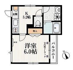 (仮称)栄町9メゾン 3階1Kの間取り