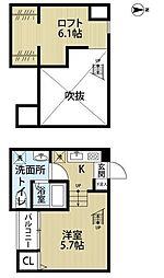 el Casa 日進(エルカーサ ニッシン)[2階]の間取り