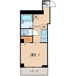 JR京浜東北・根岸線 西川口駅 徒歩1分の賃貸アパート 2階1Kの間取り