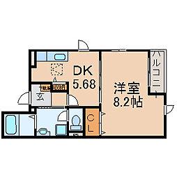 滋賀県大津市衣川2丁目の賃貸アパートの間取り