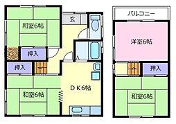 [一戸建] 大阪府松原市一津屋4丁目 の賃貸【/】の間取り