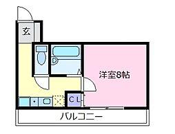 Rinon恵我之荘[2階]の間取り