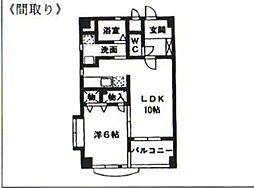 ジニアルコ−ト高宮[205号室]の間取り