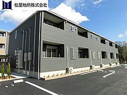 愛知県豊橋市大崎町字柿ノ木の賃貸アパートの外観