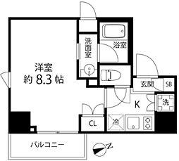 DeLCCS TOKYO BAY 2階1Kの間取り