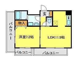 INSURANCE BLDG VI[6階]の間取り