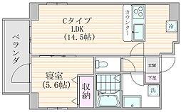 ザ・プレシャス武蔵小杉 9階1LDKの間取り