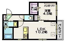 東急田園都市線 用賀駅 徒歩10分の賃貸マンション 3階1LDKの間取り