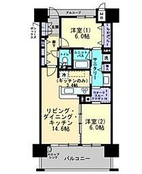 アルファステイツ倉敷鶴形 II[14階]の間取り