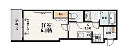 東武東上線 中板橋駅 徒歩10分の賃貸マンション 1階1Kの間取り
