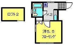 神奈川県横浜市南区永田東3丁目の賃貸アパートの間取り
