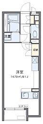 東武東上線 東松山駅 徒歩13分の賃貸アパート 2階ワンルームの間取り
