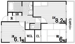 ル・ソレイユ須磨[3階]の間取り