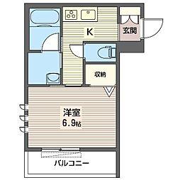 仮)中野区鷺宮5丁目シャーメゾン 3階1Kの間取り