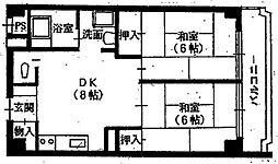宮前平佐野コーポ[4階]の間取り