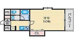 S-FORT江坂公園 7階1Kの間取り