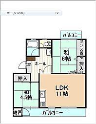 平川団地 11[303号室]の間取り