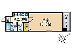 ル・アディッソ福岡[801号室]の間取り