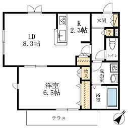 エクセレント西寺尾[1階]の間取り
