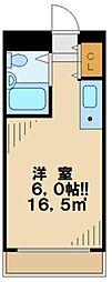 東京都多摩市一ノ宮1丁目の賃貸マンションの間取り