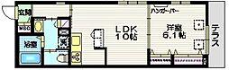 東急大井町線 尾山台駅 徒歩12分の賃貸マンション 1階1LDKの間取り