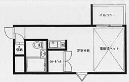 マリオン高円寺[1階]の間取り