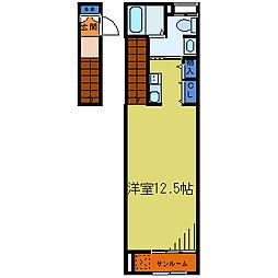 埼玉県川口市鳩ヶ谷本町3丁目の賃貸アパートの間取り