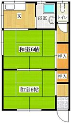 ひまわり荘[201号室]の間取り