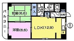 ハイム川口[3階]の間取り